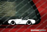 2X classic car stickers - for Shelby AC Cobra vintage sports car