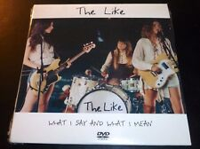 """New! THE LIKE """"What I Say And What I Mean"""" (Promo DVD 2005) #GEFR-26225-9 SEALED"""