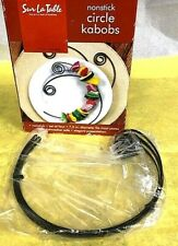 BRAND NEW - SUR LA TABLE CURVED CIRCLE KABOB SKEWERS, SET OF 4, NONSTICK