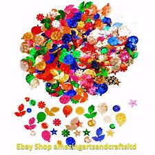2000+ Sequins Cup Loose Craft Sewing Colours Embellishments 100g