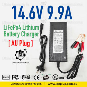 14.6V 9.9A Lifepo4 lithium Li-ion Battery Charger Supply For 12v lithium battery