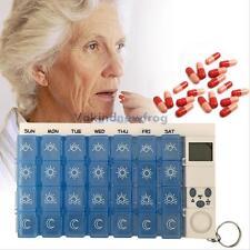 Digital 7 Days Pill Box Medicine Storage Tablet Container Reminder Timer Case