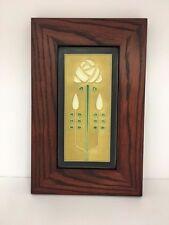 Motawi Long Stem Jade Art Tile Family Woodworks Oak Park Arts & Crafts Frame