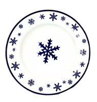 Meiwa Snowflake Blue White Rimmed Bowls Cereal Soup