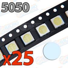 25x LED SMD5050 BLANCO FRIO alto brillo smd 5050 white cool