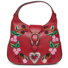 Gucci Red Dionysus Embroidery Leather Shoulder Bag Cherry Blossoms Handbag New 1