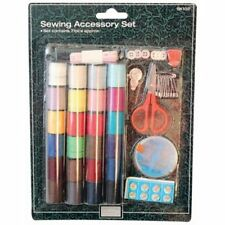 Sewing Kit 24 x Cotton + Needles Buttons Tape Measure Safety Pins 71pc