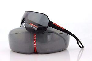 NEW Genuine PRADA Sport Matte Black Shield Sunglasses PS 52QS DG0-1A1 SPS 52Q