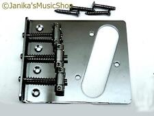Electric guitar chrome 3 saddle tele bridge telecaster style pickup slot new
