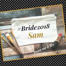 Personalised Make Up Bag, Bridesmaid Gift, Bride Tribe Hen Party Wedding 2018