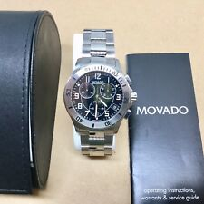 MOVADO Chronograph Model 84 R5 1890 Stainless Steel Wrist Watch - Non Working