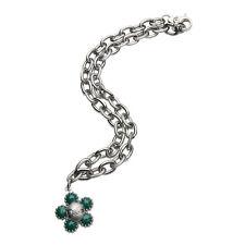 D&G Dolce & Gabbana DJ0875 PREPPY Damen Halskette Collier Edelstahl Silber Blüte