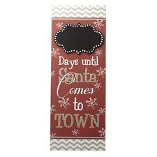 wooden Santa sign days until Santa comes to town Heaven Sends