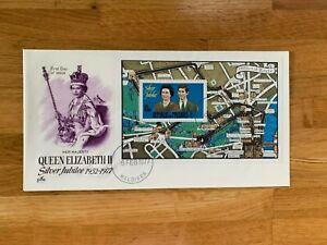 MALDIVES 1977 FDC x 2 ARTCRAFT QUEEN ELIZABETH 2 SILVER JUBILEE