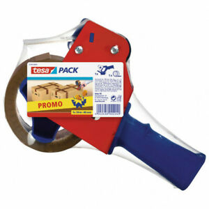 Tesapack Strong Packaging Tape (50m X 48mm) with Blue & Red Dispenser