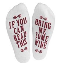 Women Men Socks If You can read this Bring Me Wine Print Funny Sock UK Seller
