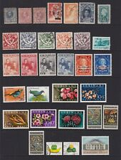 Suriname stamp collection on stockcard.