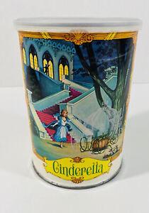 Vintage Cinderella 49 Piece Jigsaw Puzzle Complete Tin 1975 Fairytale Princess