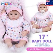 "17"" Handmade Lifelike Vinyl Newborn Baby Doll Silicone Realistic Reborn Girl"