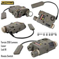 AN-PEQ FMA Torcia Led White + Puntatore Laser Red + Led IR + Comando Remoto Tan