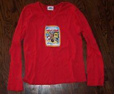 New listing Disneyland Resort red Mickey Mouse & Pluto juniors' L Lg Large top shirt