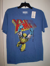WOLVERINE X-MEN Mens T Shirt Short Sleeve BLUE Size S Small MARVEL COMICS New!