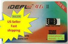 iDeal II Unlock Turbo Sim Card for iPhone X 8 7 6S 6 Plus 5S SE 5 LTE GPP Rsim