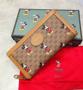 Disney x Gucci Mickey Mouse zip Around wallet For Women