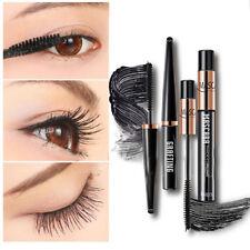 2PCS/Set 4D Silk Fiber Lash Mascara Eyelashes Long Extension Waterproof Cosmetic