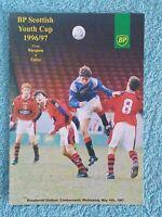1997 - SCOTTISH YOUTH CUP FINAL PROGRAMME - RANGERS v CELTIC