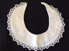 Vintage Cotton Pique Collar Waffle Crochet Lace Edge White Antique Delicate Wow