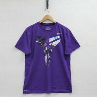 Kobe Bryant Black Mamba Nike Dri-Fit T-Shirt Size Large Purple Basketball Swoosh