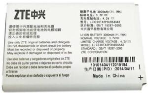 NEW OEM ZTE Li3730T42P3H6544A2 MF279 MF96 MF96U Z289L Sonic 2.0 Hotspot Battery