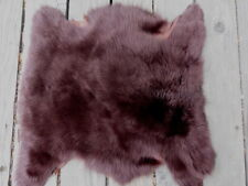 sheepskin leather fur hide Red Brown Toscana long thick hair w/suede back