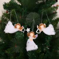 Christmas Doll Plush Angel Family Hanging Ornament Home Decoration Kid Xmas Gift