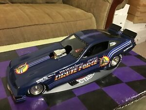 1997 Action JOHN FORCE Brute Force Blue 1977 Chevy Monza NHRA Funny Car 1/24