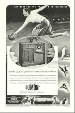 1947 vintage television AD, Du Mont Teleset. early Yankees Broadcasts -041114