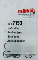 Märklin 7153  Traction Tires, New Pack of Ten, Superfast Low cost USA Shipping!