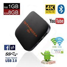G1 Android 7.1 Quad Core 4K 1+8G S905X WIFI +2USB Smart TV BOX Media Player