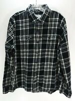 Abercrombie & Fitch Mens S Black White Muscle Plaid Flannel Button Shirt