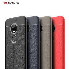 For Motorola Moto G7 Plus/G7 Play/G7 Power PU Leather Soft TPU Shockproof Case