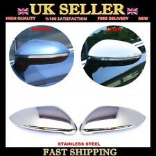 Chrome Mirror Cover 2 pcs S.STEEL to Fit VW Passat B8 Saloon-Estate 2014-up