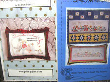 2 Embroidery Quilt Sewing Patterns Prim-Point Simply Melody Birds Flowers Spring