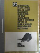Claas Rundballenpresse Rollant 85 Betriebsanleitung