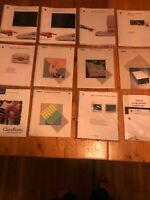 LOT OF 12: 1985 APPLE II/IIe Utilities Guide (x2, still wrapped), Owner's ma...
