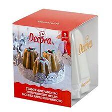 STAMPI MINI PANDORO 3 PZ ALLUMINIO Cake Design Pasticceria Natale Dolci 0062684