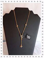 Magnifique Collier Fantaisie  Doré Losanges  Bud to Rose 50  cm