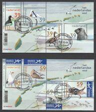 Nederland NVPH 2170-71 Vellen Het Nederlands Wad 2003 Gestempeld Groningen