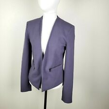 Banana Republic 2 Gray Blazer Jacket Rayon Stretch Career Travel Lilac Pretty