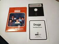 Drugs: Their Affects on you,5.25 Floppy disk for Apple II+, IIe, IIc, IIGS. RARE